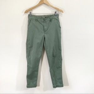 Roots Cargo Chino Green Ankle Pants Small